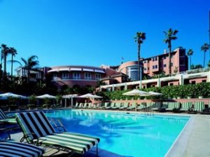 The famous Beverly Hills hotel pool, cited in All the Best's fabulous post on Swimming Pools