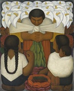 Diego Rivera freshly re-installed at LACMA