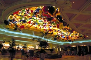 Chihuly's Fiori di Como at the Bellagio in Las Vegas includes over 2,000 handblown glass elements