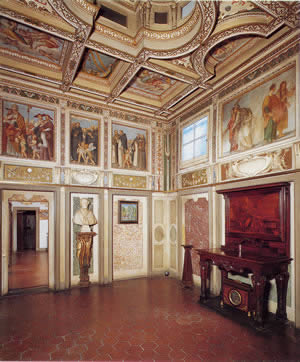 An interior view of the Casa Buonarroti, Michelangelo's house in Florence