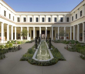 Inner peristyle at the Getty Villa in Malibu