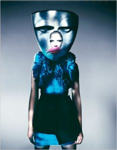 """Blue Mask, Paris, 2007,"" by Paolo Roversi at the Weird Beauty exhibition"