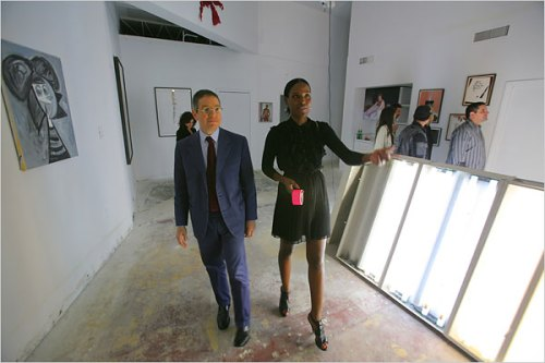 Nicola Vassell and Jeffrey Deitch