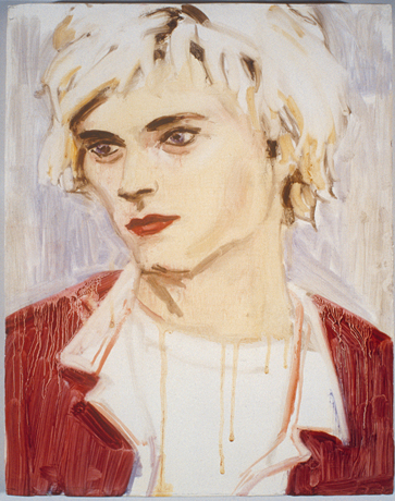 "Elizabeth Peyton's ""Zoe's Kurt,"" 1995, oil on board, 14 x 11 in, Collection Zoe Stillpass"