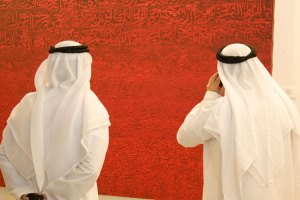Art enthusiasts at Art Dubai