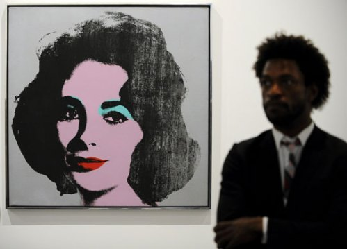 "Andy Warhol's ""Silver Liz,"" one of nearly 150 works on display at the Grand Palais in Paris"