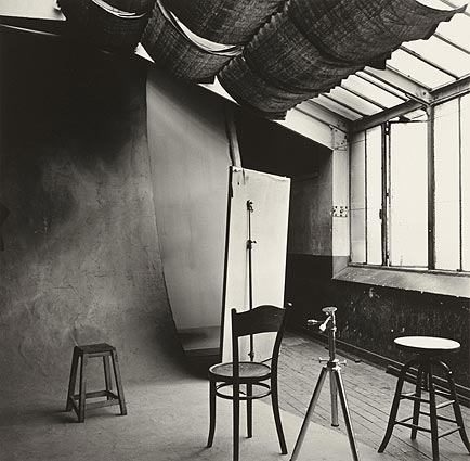 """Irving Penn's Studio"" in Paris, 1950. c. Irving Penn"