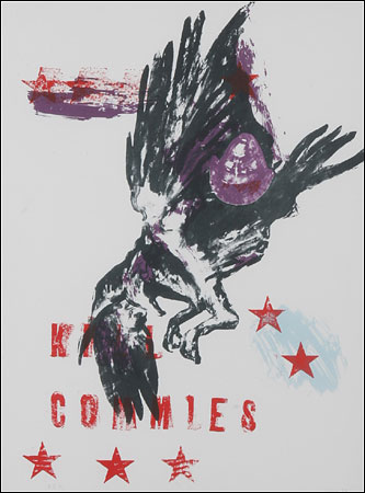 "Nancy Spero's ""Kill Commies/Maypole"" via The New York Times"